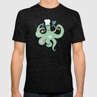 The Octopus Chef Mens Fitted Tee Tri-Black SMALL