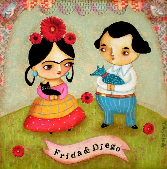 Frida & Diego painting Art Print
