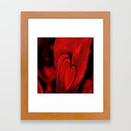 Red Heart  Framed Art Print