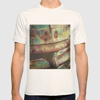Chevy Patina Mens Fitted Tee Natural SMALL