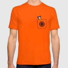 Pockets - Hurley - Mens Fitted Tee Orange SMALL