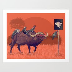 I'll take the buffalo Art Print