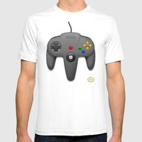 Nintendo 64 Mens Fitted Tee White SMALL