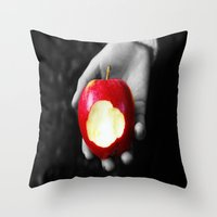 Poison Apple Throw Pillow