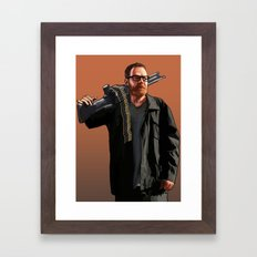 Walter 52 Portrait Framed Art Print