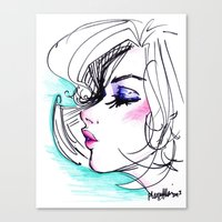Sharpie Scribble Canvas Print