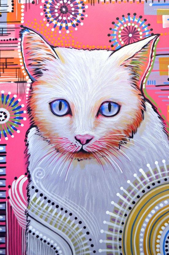 Slinky...Abstract cat art Art Print