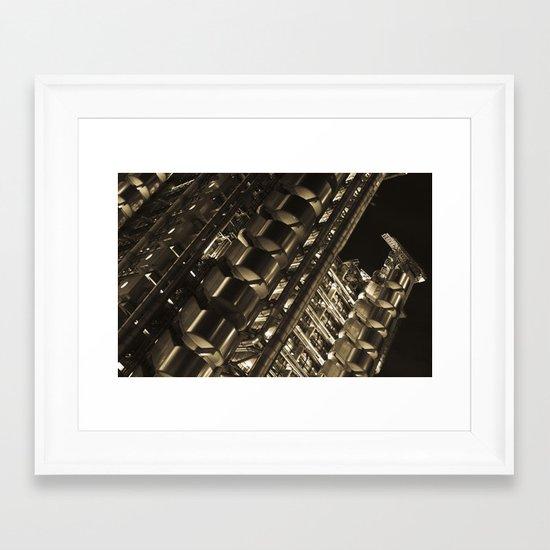 Gold Lloyds Framed Art Print