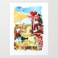 Art Print featuring I HEART DESERT FILM by Olive Primo Design + Illustration