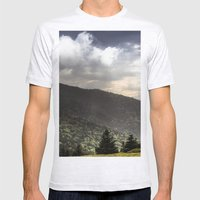 Mountain Sun Rays Mens Fitted Tee Ash Grey SMALL