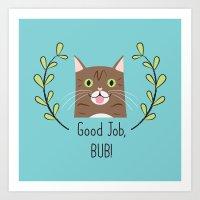 Lil Bub Art Print