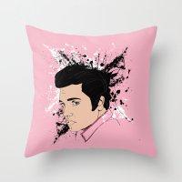 Pink Elvis Throw Pillow