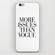 iPhone & iPod Skin featuring More Issues Than Vogue by RexLambo