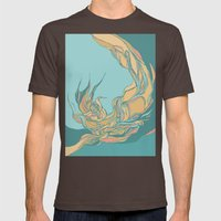 Abstraction Mens Fitted Tee Brown SMALL