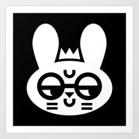 Wry Rabbit Art Print