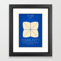 Community - Minimalist Movie Poster Framed Art Print