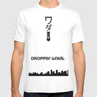 Droppin Love/Bomb Mens Fitted Tee White SMALL