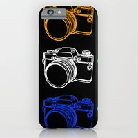 iPhone & iPod Case featuring White on Black Camera by Caz Haggar