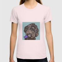 Maddie The Doodle Womens Fitted Tee Light Pink SMALL
