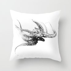 Octopus Rubescens Throw Pillow