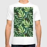 T-shirt featuring Leaf Pattern. Watercolor by Julia Badeeva