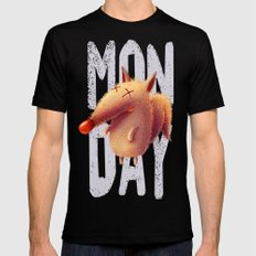Monday fox Black Mens Fitted Tee SMALL