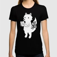 White Fox Womens Fitted Tee Black SMALL
