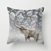 Throw Pillow featuring The Simple Things Are the Most Extraordinary (Elephant-Size Dreams) by soaring anchor designs