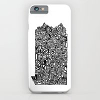 iPhone & iPod Case featuring Typographic Pennsylvania by CAPow!