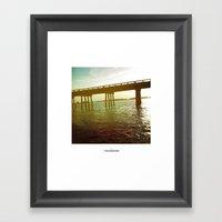 océano 3 Framed Art Print