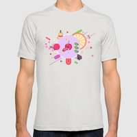 Tasty Visuals - Cherry P… Mens Fitted Tee Silver SMALL