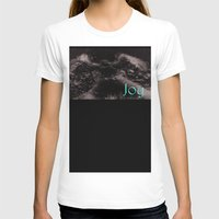 Joy And Snow Angels   Womens Fitted Tee White SMALL