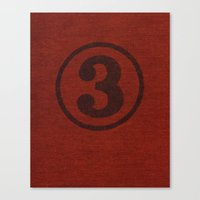 number series: #3 Canvas Print