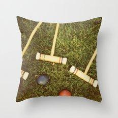 Croquet Throw Pillow