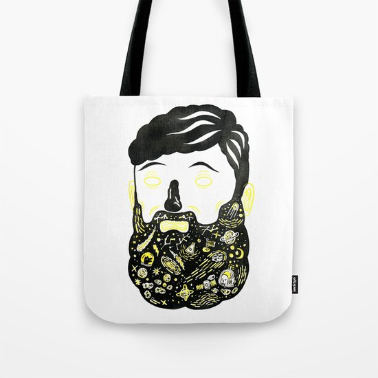 Space Beard Guy Tote Bag