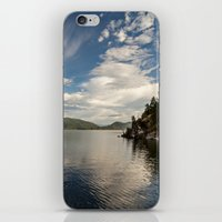 morning light over the lake iPhone & iPod Skin