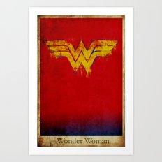 Wonder Logo Art Print