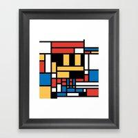 Super Mondrian Framed Art Print