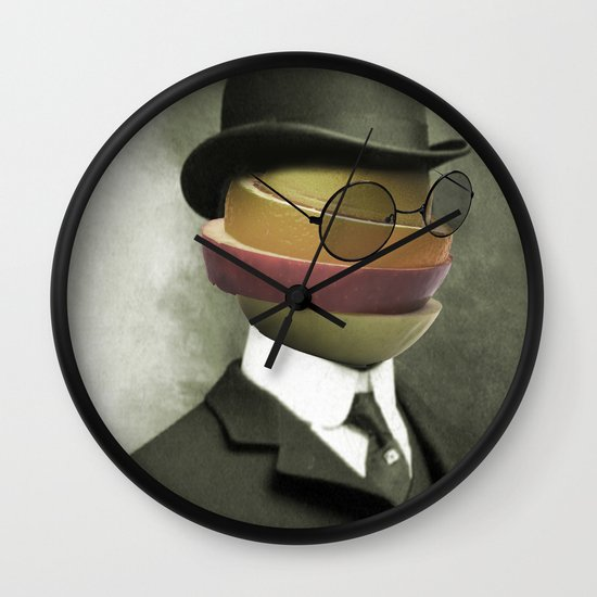 Bowler fruit Wall Clock
