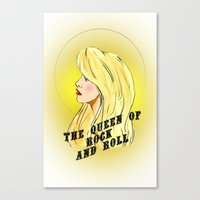 The Queen of Rock and Roll Canvas Print
