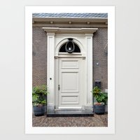 White church door Art Print