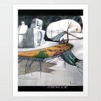 A long way alone. Art Print