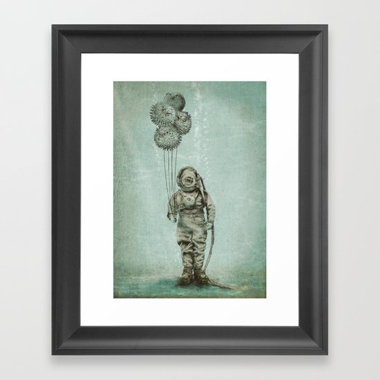 Balloon Fish Framed Art Print By Eric Fan Society6