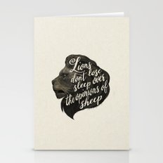 Lions Don't Lose Sleep O… Stationery Cards