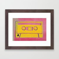 Cassette Tape - Side A Framed Art Print
