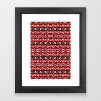 Montana Stripe - Cherry Framed Art Print
