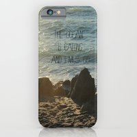 iPhone & iPod Case featuring The Ocean is Calling by manduhpaige