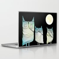 owls Laptop & iPad Skins featuring Owls by Brontosaurus
