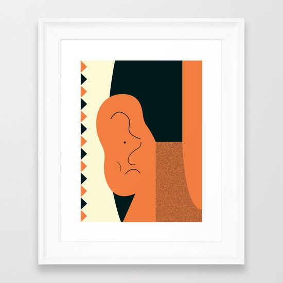 Angry talking makes the ear cranky Framed Art Print