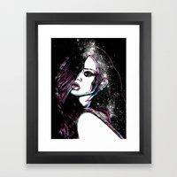 Diamonds In The Sky. Framed Art Print